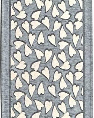 Šedý běhoun Floorita Corazo, 55 x 190 cm