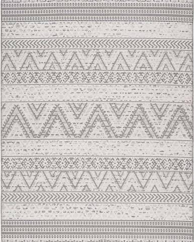 Šedý venkovní koberec Universal Weave Geo, 77 x 150 cm