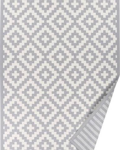 Šedý vzorovaný oboustranný koberec Narma Viki, 70x140cm