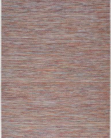 Tmavě červený venkovní koberec Universal Bliss, 55 x 110 cm