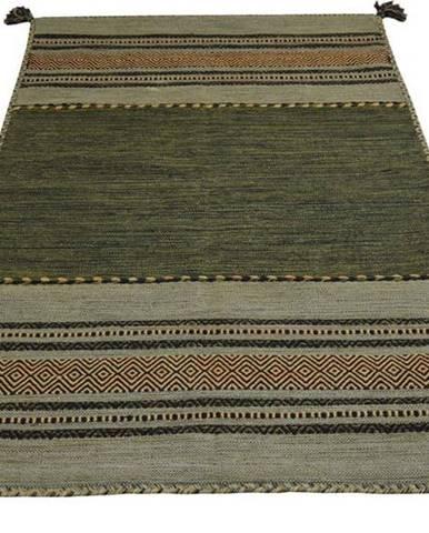 Zelený bavlněný koberec Webtappeti Antique Kilim, 60 x 90 cm