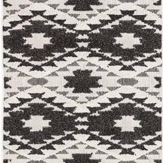 Černo-bílý koberec Asiatic Carpets Taza, 80 x 240 cm