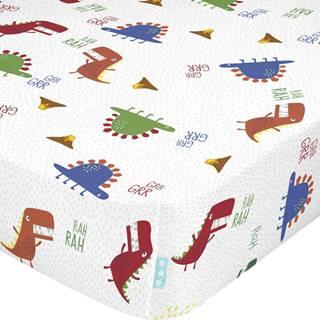 Dětské bavlněné prostěradlo Moshi Moshi Funnysaurus,70x140cm