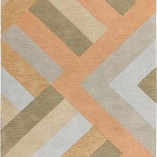 Šedo-lososový koberec Asiatic Carpets Big Zig, 120 x 170 cm