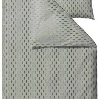 Zelené povlečení na jednolůžko z ranforce bavlny Södahl Graphic,140x200cm