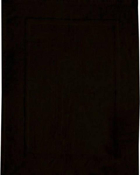 WENKO Černá bavlněná koupelnová předložka Wenko, 50x70cm