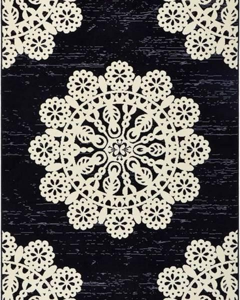 Hanse Home Černý koberec Hanse Home Gloria Lace, 80x150cm
