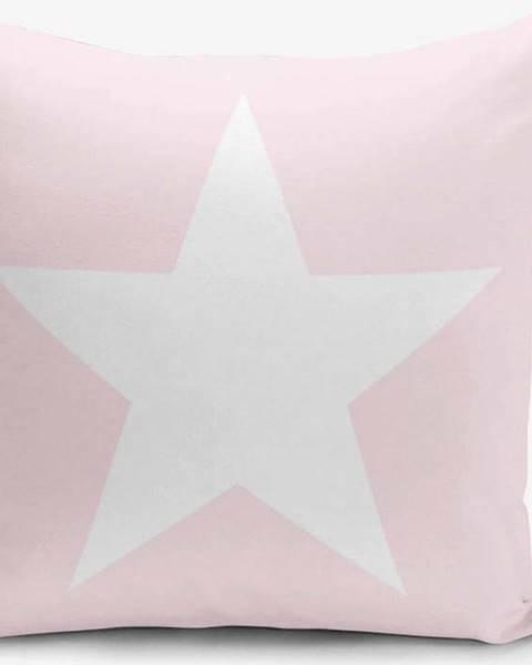 Minimalist Cushion Covers Povlak na polštář s příměsí bavlny Minimalist Cushion Covers Star Pink, 45 x 45 cm