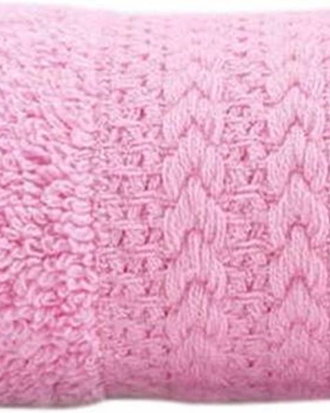 Hobby Růžový ručník z čisté bavlny Sunny, 30 x 50 cm