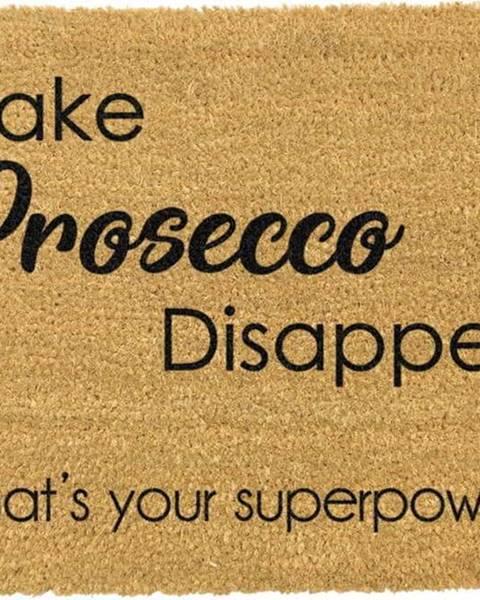 Artsy Doormats Rohožka z přírodního kokosového vlákna Artsy Doormats I Make Prosecco Disappear,40x60cm