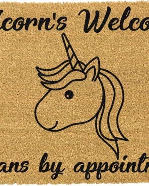 Artsy Doormats Rohožka z přírodního kokosového vlákna Artsy Doormats Unicorns Welcome,40x60cm