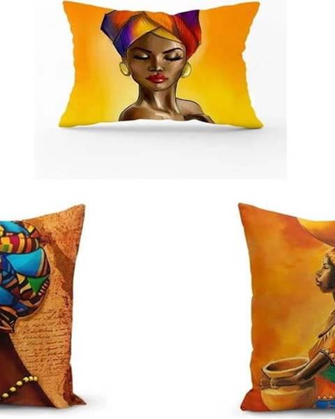 Minimalist Cushion Covers Sada 3 povlaků na polštáře Minimalist Cushion Covers African Culture, 45 x 45 cm
