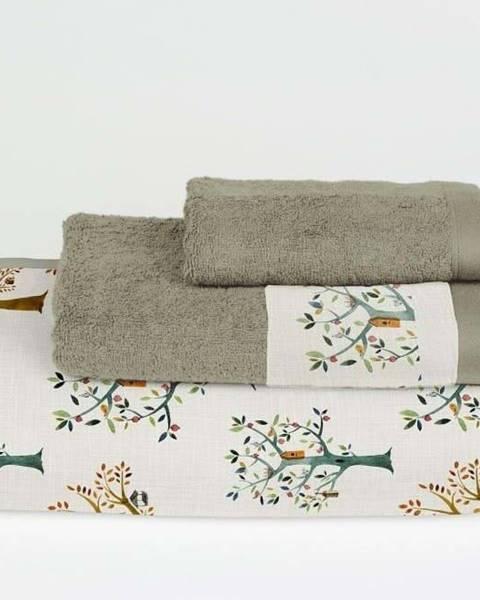 Surdic Sada 3 ručníků z bavlny a mikrovlákna Surdic Trees
