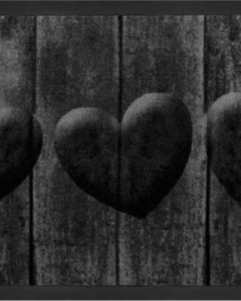 Hanse Home Šedá rohožka Hanse Home Hearts, 45 x 75 cm