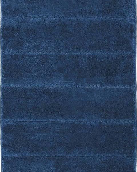 WENKO Tmavě modrá koupelnová předložka Wenko Steps, 90 x 60 cm