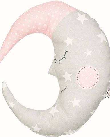 Béžovorůžový dětský polštářek s příměsí bavlny Mike&Co.NEWYORK Pillow Toy Moon, 30 x 33 cm