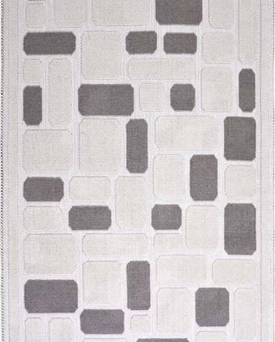 Béžový bavlněný koberec Vitaus Mozaik, 80 x 150 cm