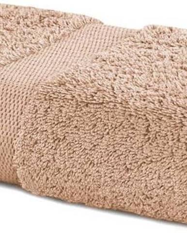 Béžový ručník DecoKing Marina, 50 x 100 cm