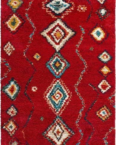 Červený koberec Mint Rugs Geometric, 80x150cm
