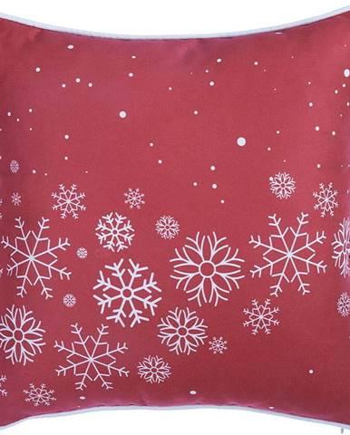 Červený povlak na polštář s vánočním motivem Mike&Co.NEWYORK Honey Snowflakes, 45 x 45 cm
