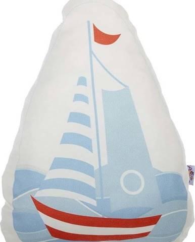 Dětský polštářek s příměsí bavlny Mike&Co.NEWYORK Pillow Toy Boat, 30 x 37 cm