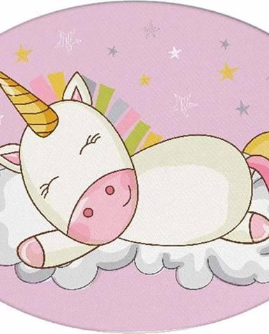 Dětský polštářek s příměsí bavlny Mike&Co.NEWYORK Pillow Toy Unicorn, 35 x 24 cm
