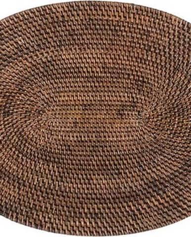 Hnědé ratanové prostírání Tiseco Home Studio, 30x40cm