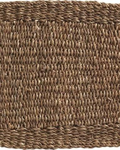 Hnědý koberec z mořských řas Geese Rustico Natura, 45 x 75 cm
