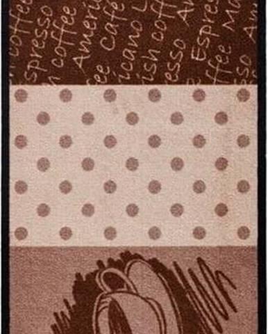 Hnědý kuchyňský běhoun Hanse Home CoffeeHeart, 50x150cm