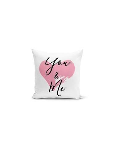 Povlak na polštář Minimalist Cushion Covers You & Me Heart, 45x45cm