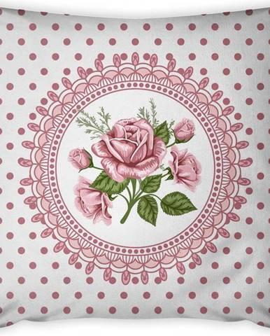 Povlak na polštář Vitaus Rustic Vintage Rosa Tres, 43 x 43 cm