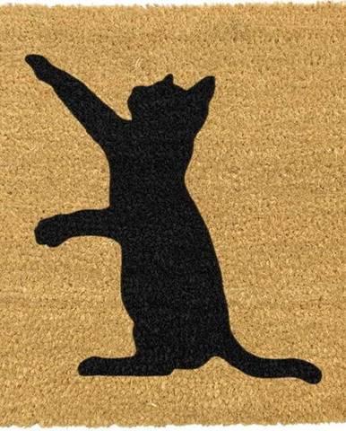 Rohožka z přírodního kokosového vlákna Artsy Doormats Cat,40x60cm
