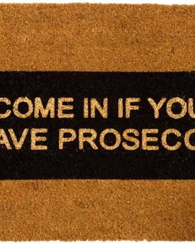 Rohožka z přírodního kokosového vlákna Artsy Doormats Come In If you Have Prosecco Glitter,40x60cm