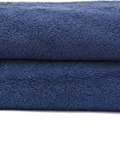 Sada 2 námořnicky modrých osušek ze 100% bavlny Bonami, 70x140 cm