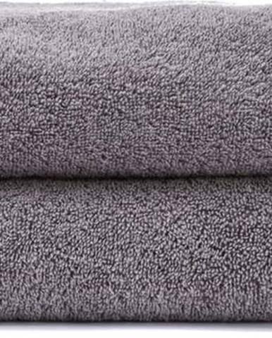 Sada 2 šedých ručníků ze 100% bavlny Bonami, 50x90 cm