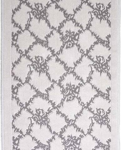 Šedobéžový bavlněný koberec Vitaus Sarmasik, 80x150cm