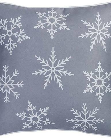 Šedý povlak na polštář s vánočním motivem Mike&Co.NEWYORK Honey Snowflake, 45 x 45 cm