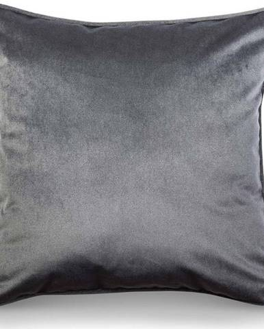Šedý povlak na polštář WeLoveBeds Dark, 50 x 50 cm