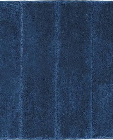Tmavě modrá koupelnová předložka Wenko Steps, 55x65cm