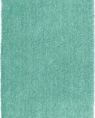 Tyrkysově modrá koupelnová předložka Wenko Mélange, 90x60cm