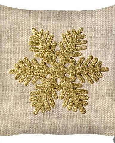 Vánoční povlak na polštář Mike&Co.NEWYORK Honey Snowflake, 43 x 43 cm