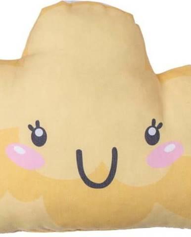 Žlutý dětský polštářek s příměsí bavlny Mike&Co.NEWYORK Pillow Toy Hurro, 21 x 40 cm