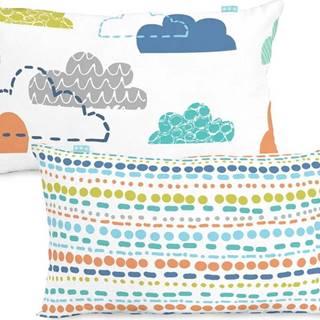 Bavlněný oboustranný povlak na polštář Moshi Moshi Holidays, 50x30cm