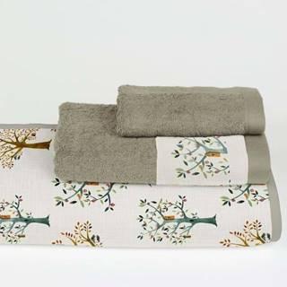 Sada 3 ručníků z bavlny a mikrovlákna Surdic Trees