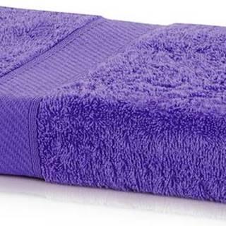Tmavě fialová osuška DecoKing Bamby Purple, 70 x 140 cm
