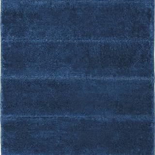 Tmavě modrá koupelnová předložka Wenko Steps, 90 x 60 cm
