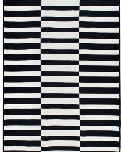 Cihan Bilisim Tekstil Černo-bílý oboustranný koberec Poros, 80 x 150 cm