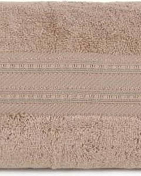 Hobby Hnědá osuška z bavlny a bambusového vlákna Lavinya, 70x140cm