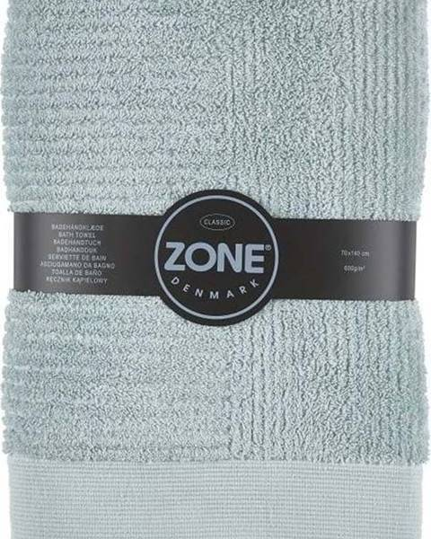 Zone Šedo-zelená osuška Zone Classic, 70x140cm