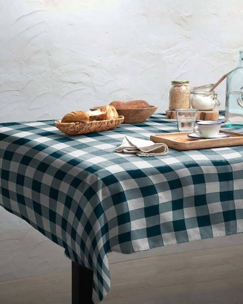 Linen Couture Ubrus Linen Couture Turquoise Vichy, 140 x 200 cm